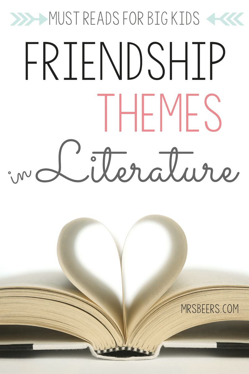 Middle school books with friendship themes in Literature