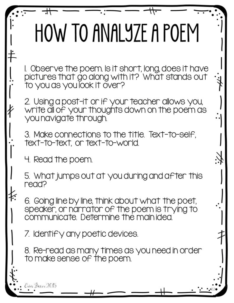 poems for middle school