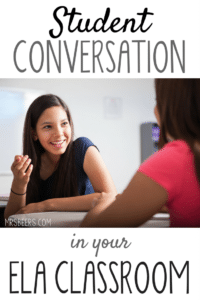 student conversation in the ELA Classroom