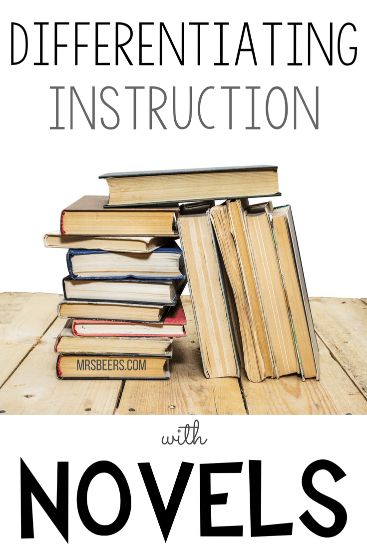 Differentiating Reading Instruction with Novels