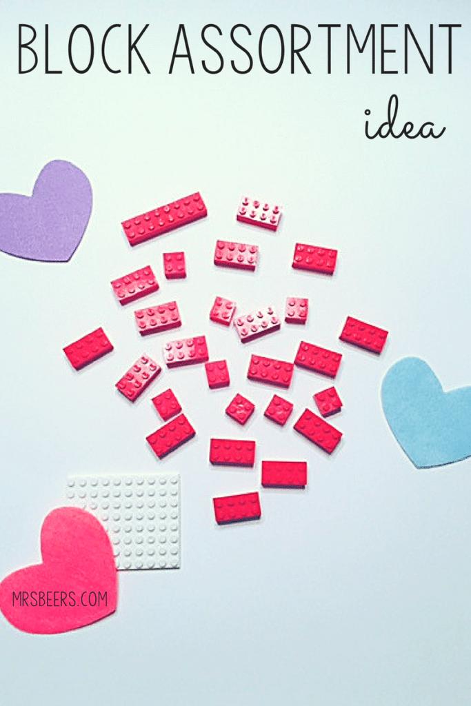 Valentine's Day lego fun for classroom