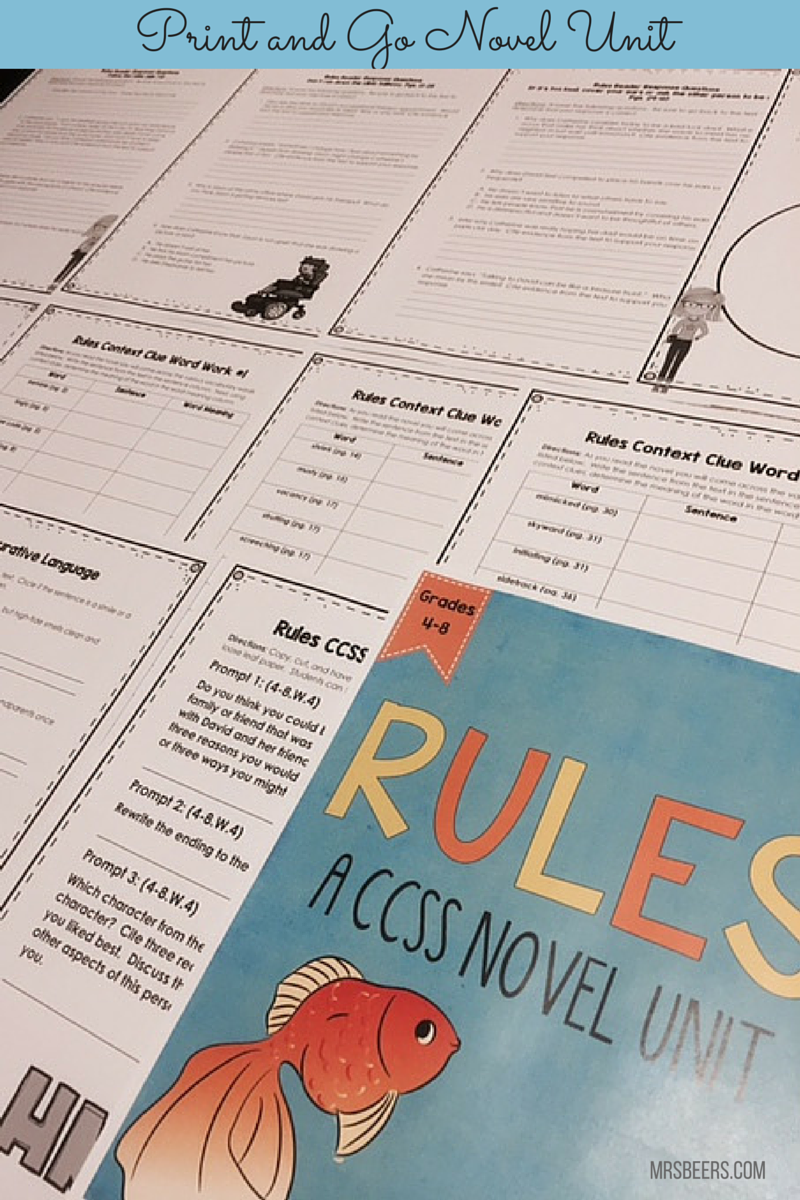 summer reading: rules by cynthia lord