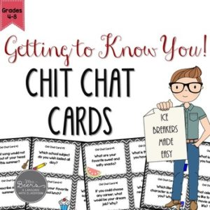 ELA Chit Chat Cards