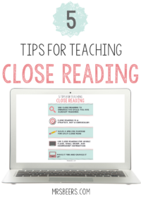 teaching close reading