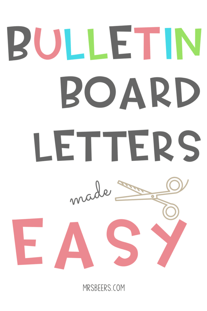 image relating to Poster Board Letters Printable called Bulletin Board Letters Intended Basic