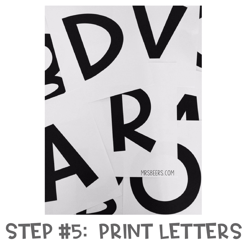 photo relating to Poster Board Letters Printable titled Bulletin Board Letters Designed Simple