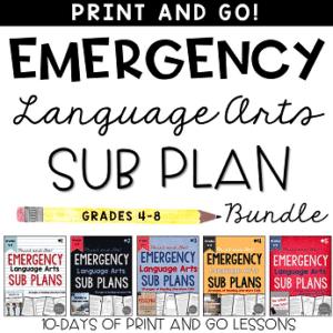 middle school ELA sub plans