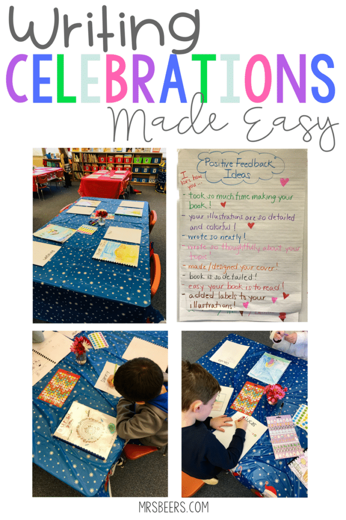 Ideas for Writing Celebrations and Writing Units
