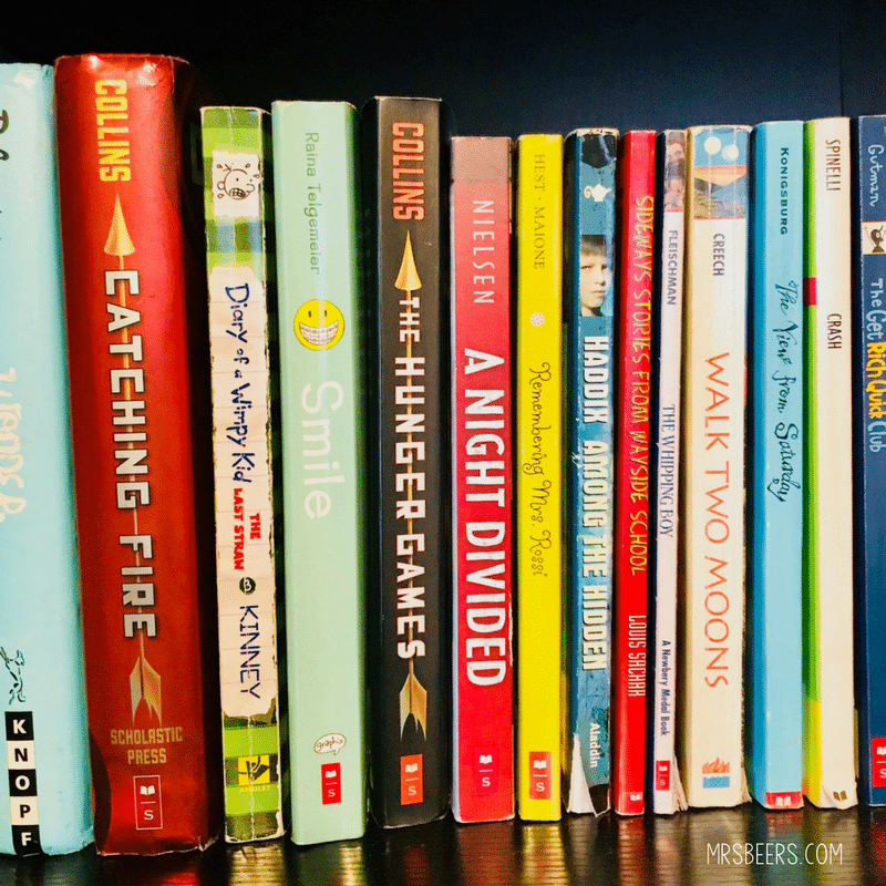 high interest novels for middle school class