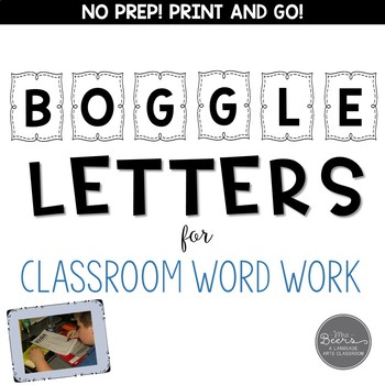 boggle letter for ela classroom