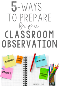 classroom observation tips
