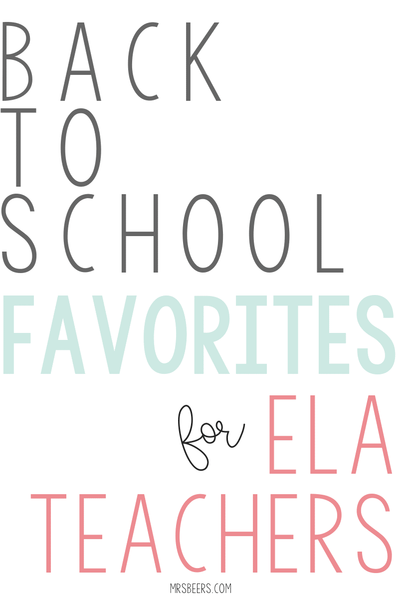 Back to School Favorites for ELA Teachers... I have been blogging for over 10 years. Here are some of my favorite posts to get teachers geared up for back to school season.