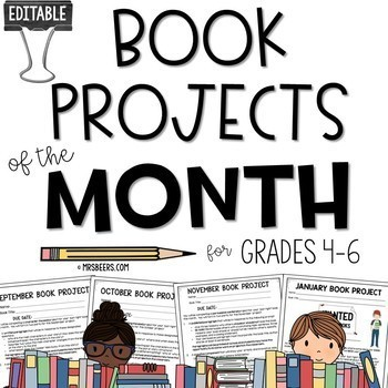 middle school book projects