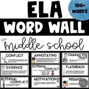 middle school ela word wall resource