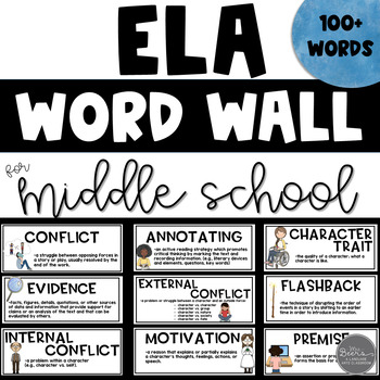 middle school ela word wall resource